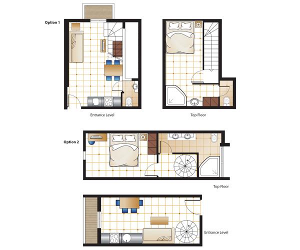 one-Bedroom-Junior-Maisonette-plaza-spa-Floorplan