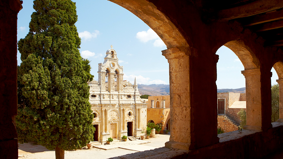 crete monasteries churches